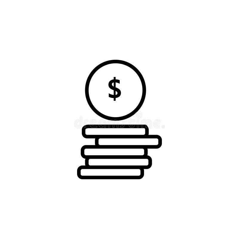 Dinheiro Linha vetor do ícone ilustração royalty free