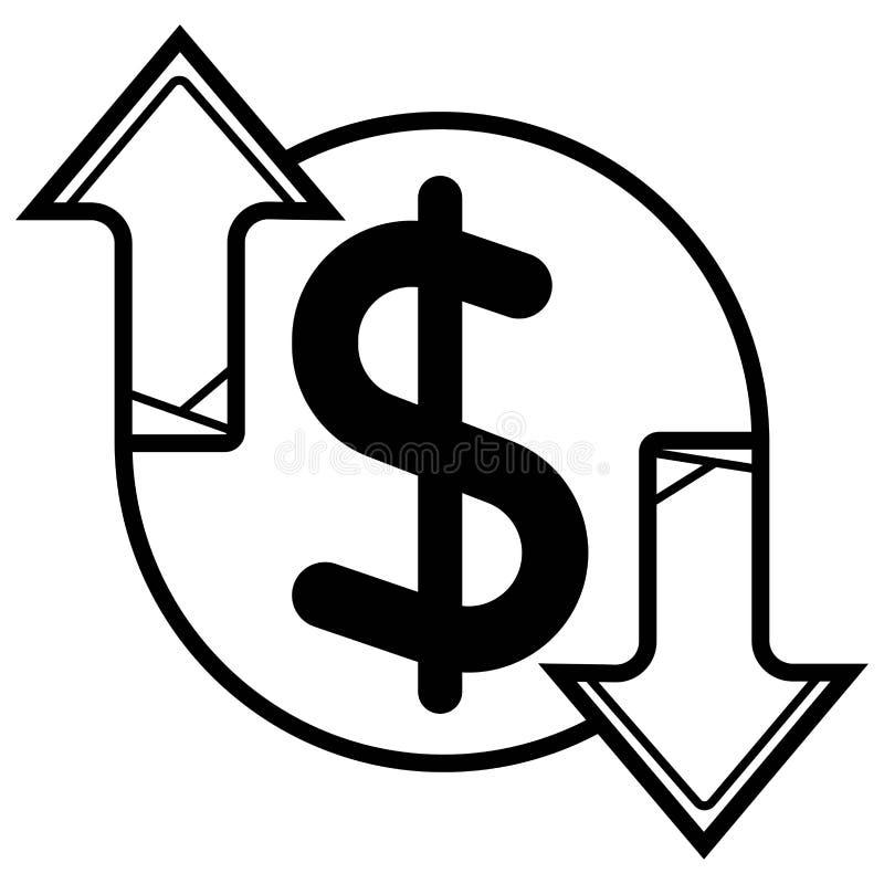 Dinheiro Linha vetor do ?cone Sistema de pagamento ilustração royalty free