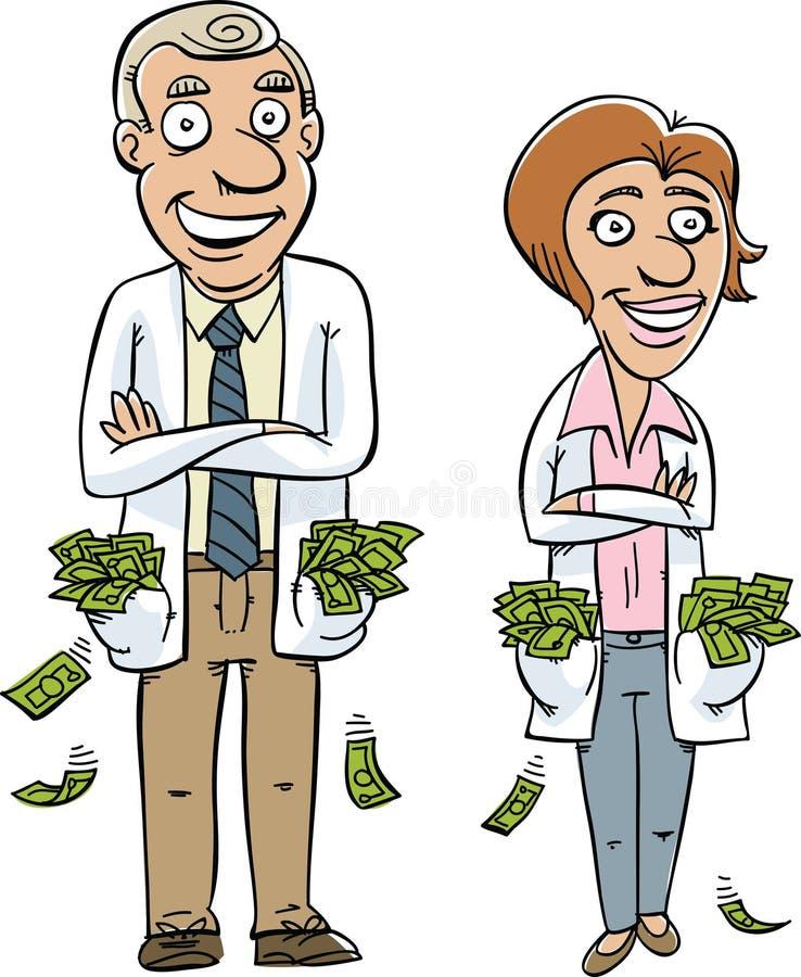 Dinheiro médico ilustração stock