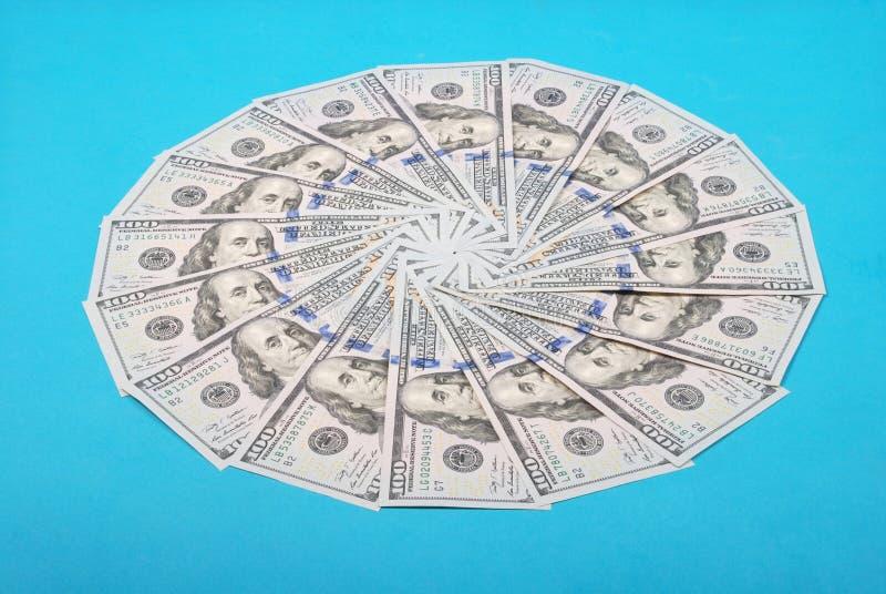 Dinheiro na forma de um c?rculo imagens de stock royalty free
