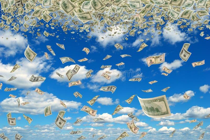 Dinheiro no céu. imagem de stock