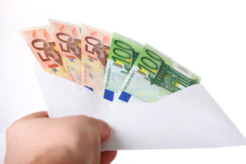 Dinheiro no envelope. imagem de stock royalty free