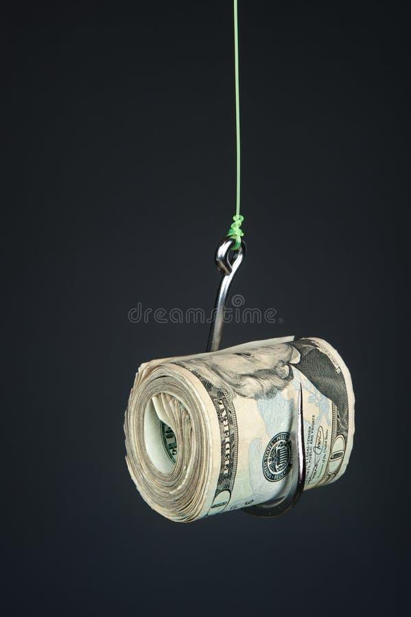 Download Dinheiro no fishook foto de stock. Imagem de prendedor - 16860950