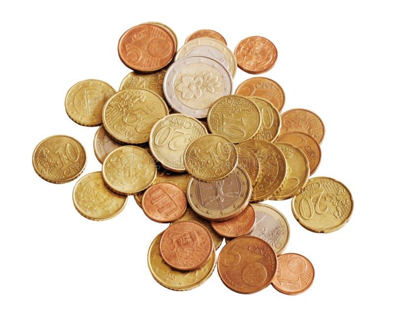 Dinheiro no fundo branco. foto de stock royalty free