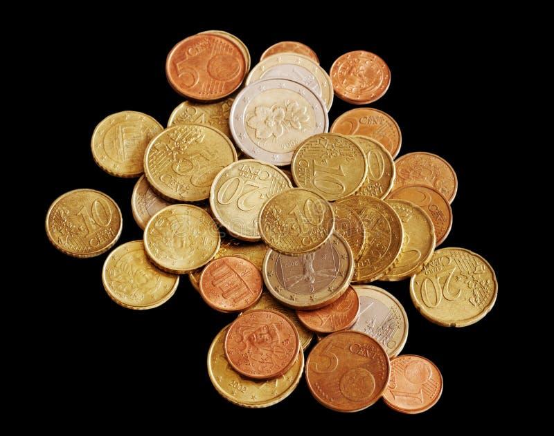 Dinheiro no fundo preto. fotos de stock