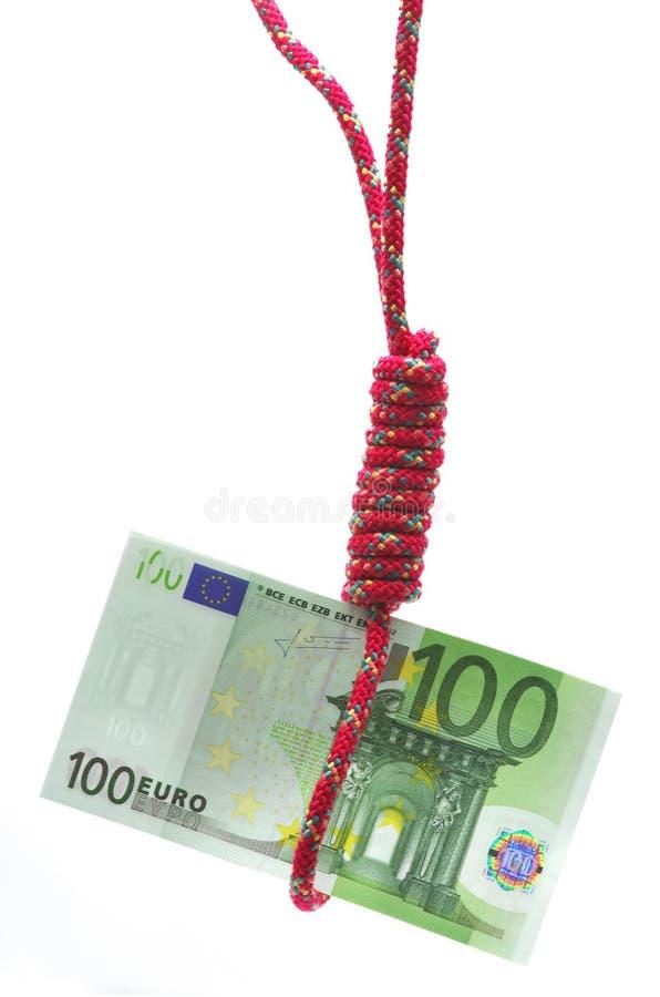 Dinheiro no gibbet imagens de stock