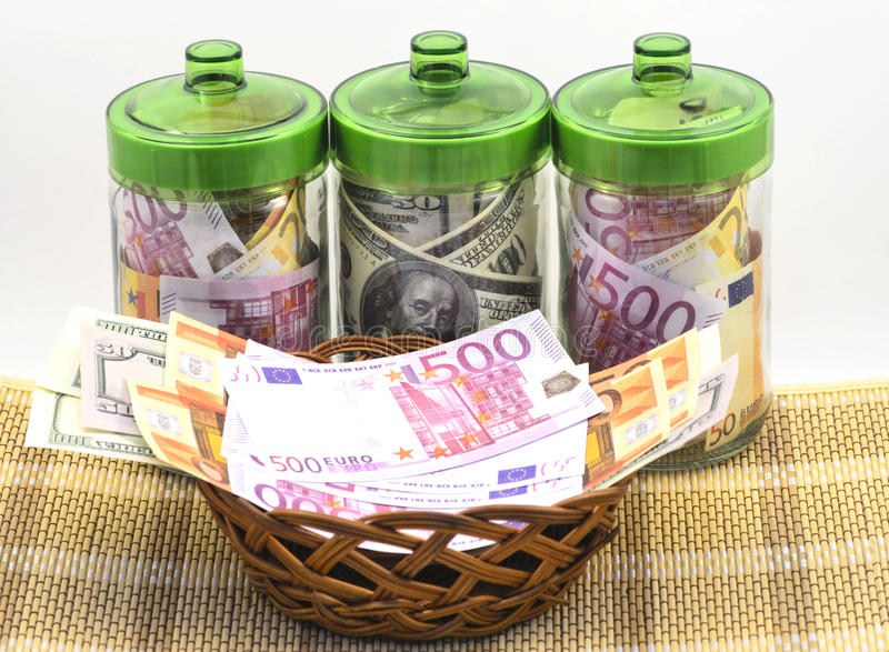 Dinheiro nos bancos fotos de stock