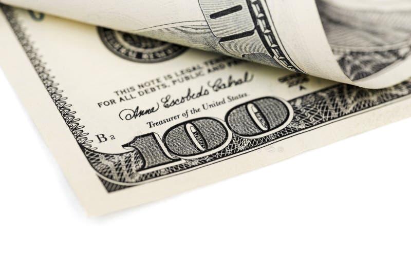 Dinheiro Notas de papel em denominações de cem dólares Negócios e Finanças foto de stock royalty free