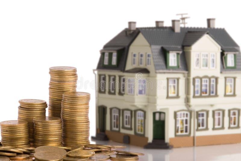 Dinheiro para a casa imagens de stock