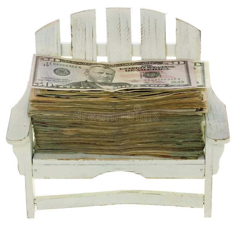 Dinheiro para férias imagens de stock royalty free