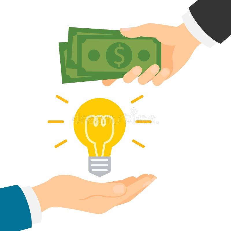 Dinheiro para a ideia ilustração do vetor