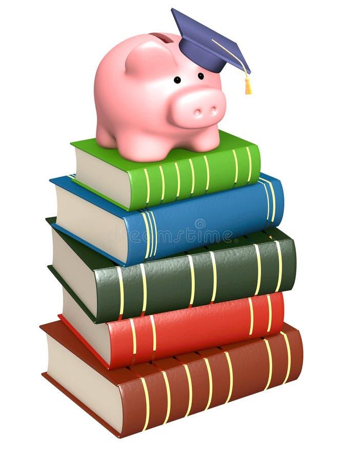 Dinheiro para a instrução ilustração stock