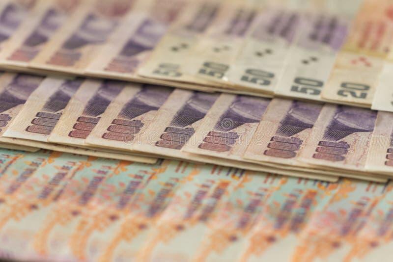 Dinheiro/pesos argentinos fotografia de stock