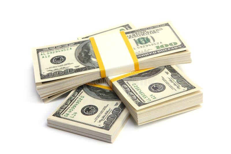 Dinheiro - pilha de dólares imagens de stock