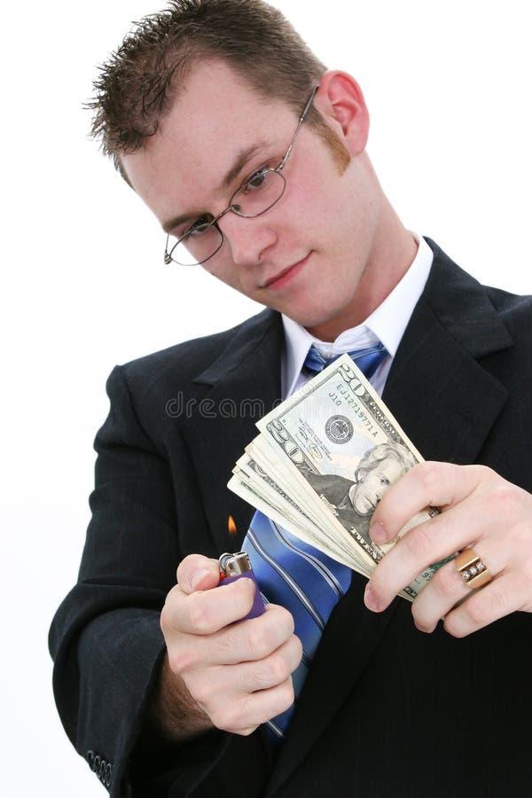 Dinheiro a queimar-se foto de stock royalty free