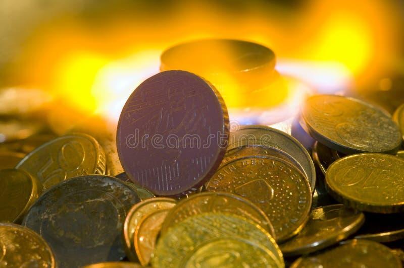 Dinheiro a queimar-se fotos de stock royalty free