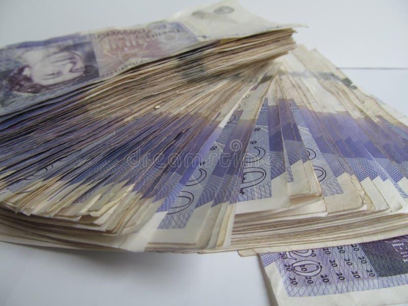 Dinheiro Sterling Twenties Wonga 2 imagem de stock
