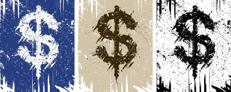 Dinheiro sujo ilustração stock
