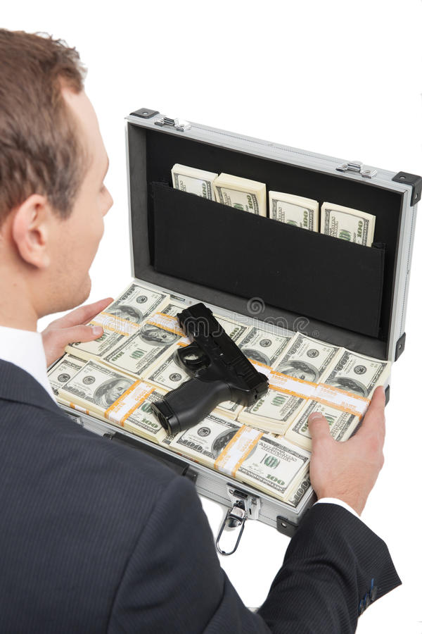 Dinheiro sujo. foto de stock