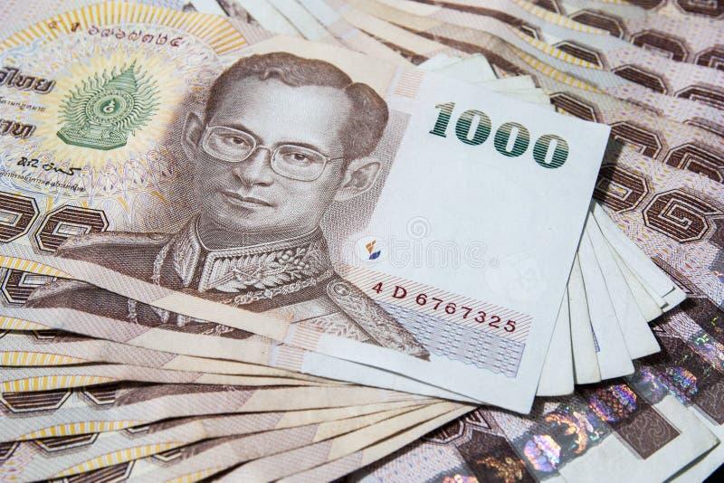 Dinheiro tailandês, baht 1000 imagem de stock