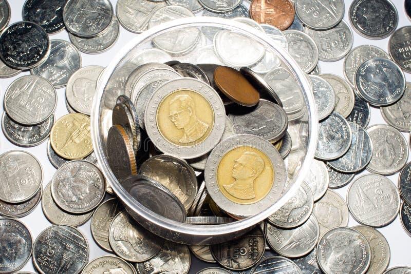 Dinheiro tailandês das moedas fotografia de stock