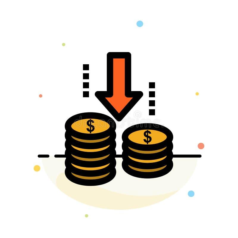 Dinheiro, transferência, fundo, molde liso do ícone da cor do sumário da análise ilustração royalty free
