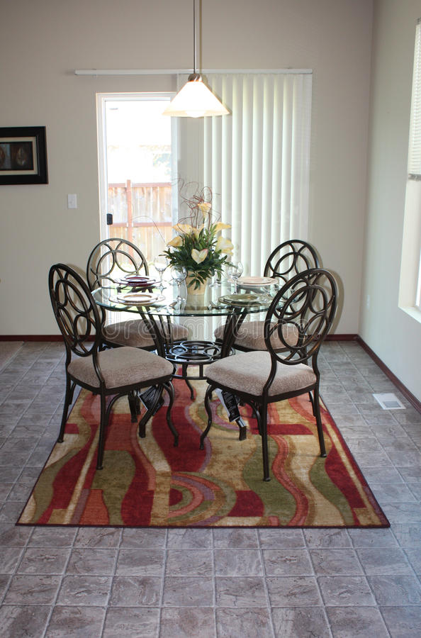 Dining area stock image