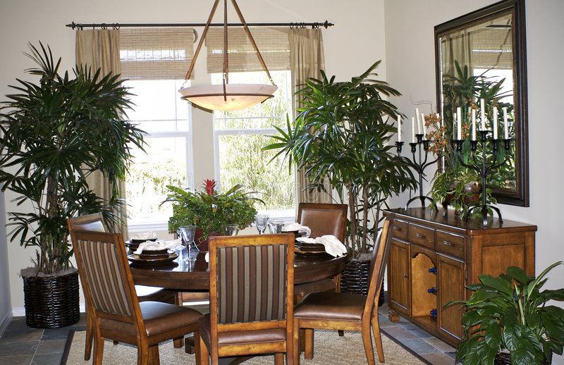 Dining Area. An elegant dining area in a California house stock photo