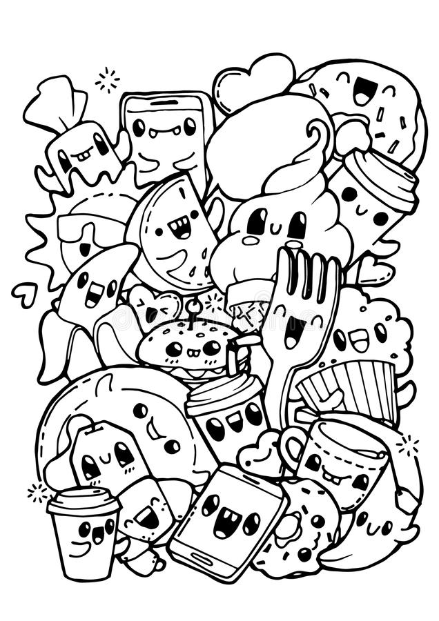 Cute Food Coloring Pages Collection - Whitesbelfast | 900x636
