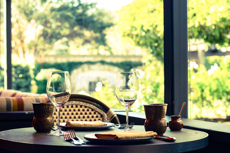 Dining experience in Napa Valley stock images