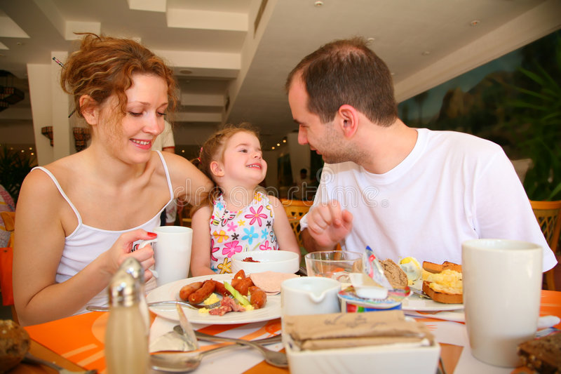 Dining family royalty free stock photo