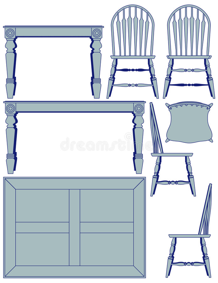 Dining furniture blueprint stock vector illustration of download dining furniture blueprint stock vector illustration of schematic architectural 8582665 malvernweather