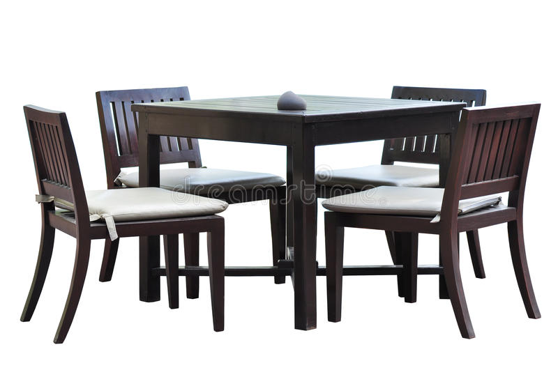 Dining furniture. With clipping path royalty free stock images
