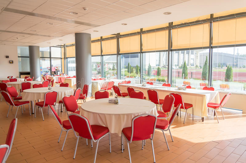 Download Dining Hall stock image. Image of cafeteria, arrangement - 27179775