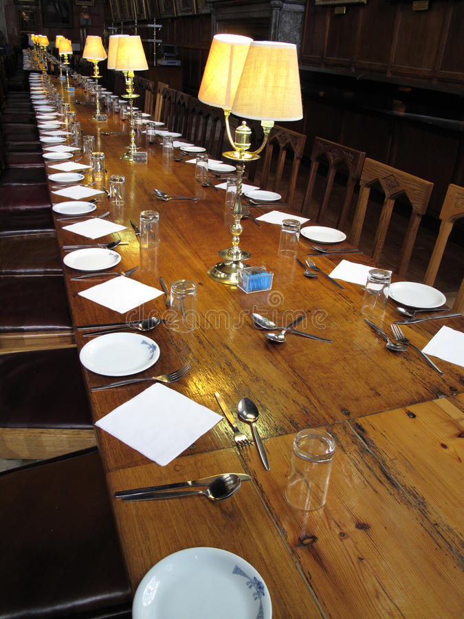 Dining Hall Of  Christ Church College Oxford Royalty Free Stock Photo