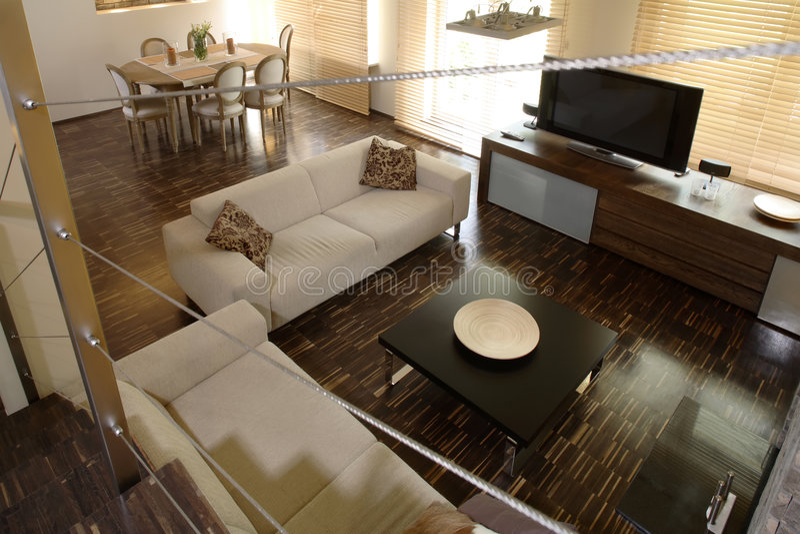 dining home living room στοκ εικόνα