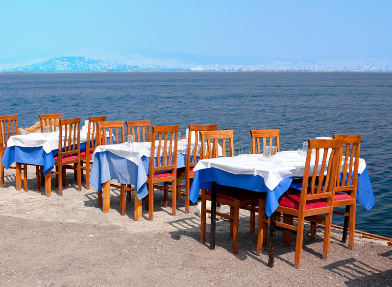 Dining outdoors stock photography