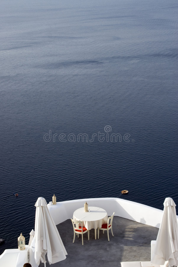 Dining over sea luxury royalty free stock photography