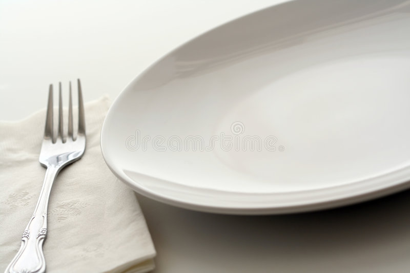 Dining plate stock photos