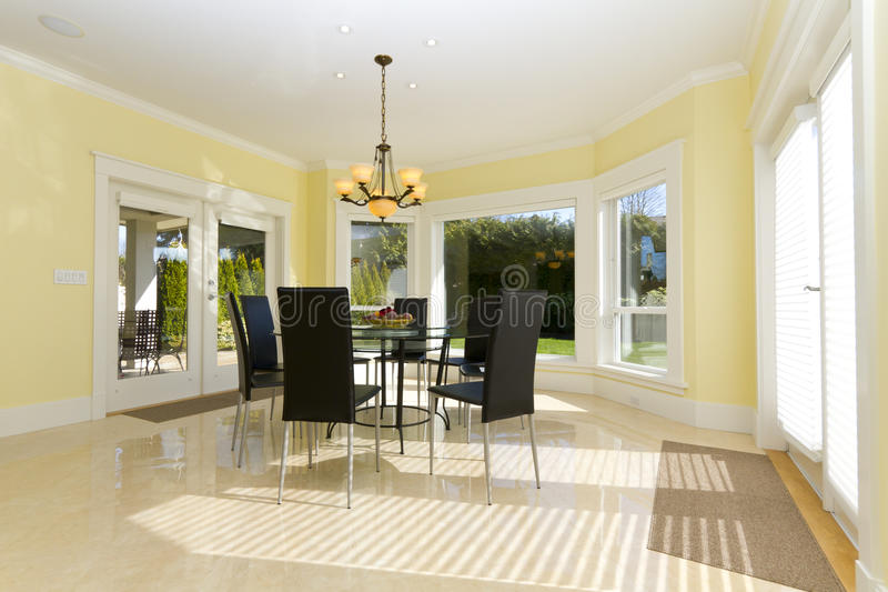 Download Dining room stock photo. Image of floor, chair, window - 16211556
