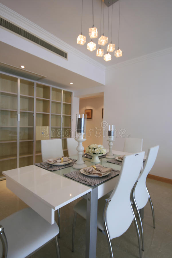 Dining room. A dining room of an apartment stock photos