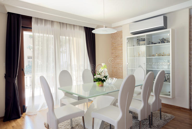 Download Dining room stock photo. Image of window, lamp, ceiling - 26537416