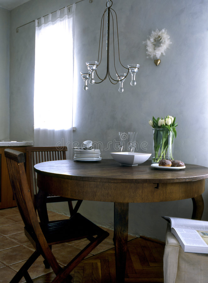 Dining-room. In vintage style stock photo