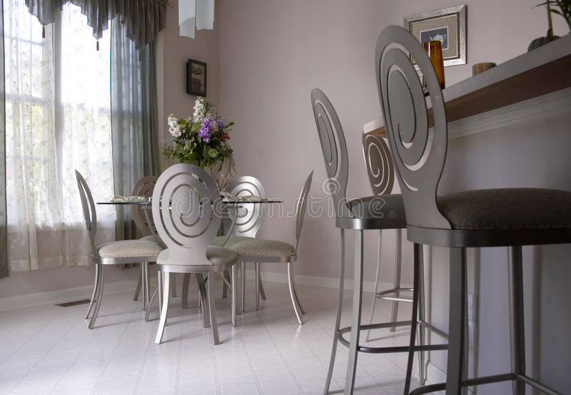 Dining room. Table royalty free stock photos
