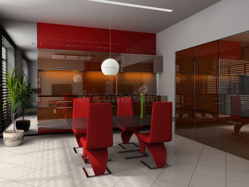 Dining room stock illustration
