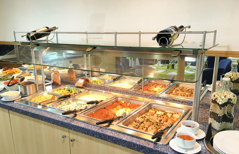 Dining Room Buffet stock photo