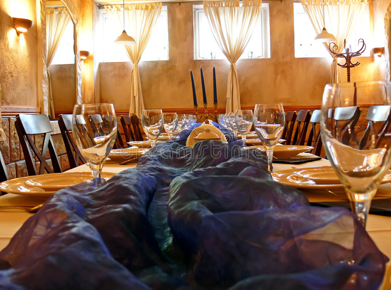 Dining room details stock photography