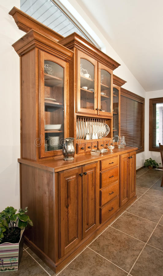 Dining Room Hutch Buffet stock image. Image of curio, drawer - 9914515