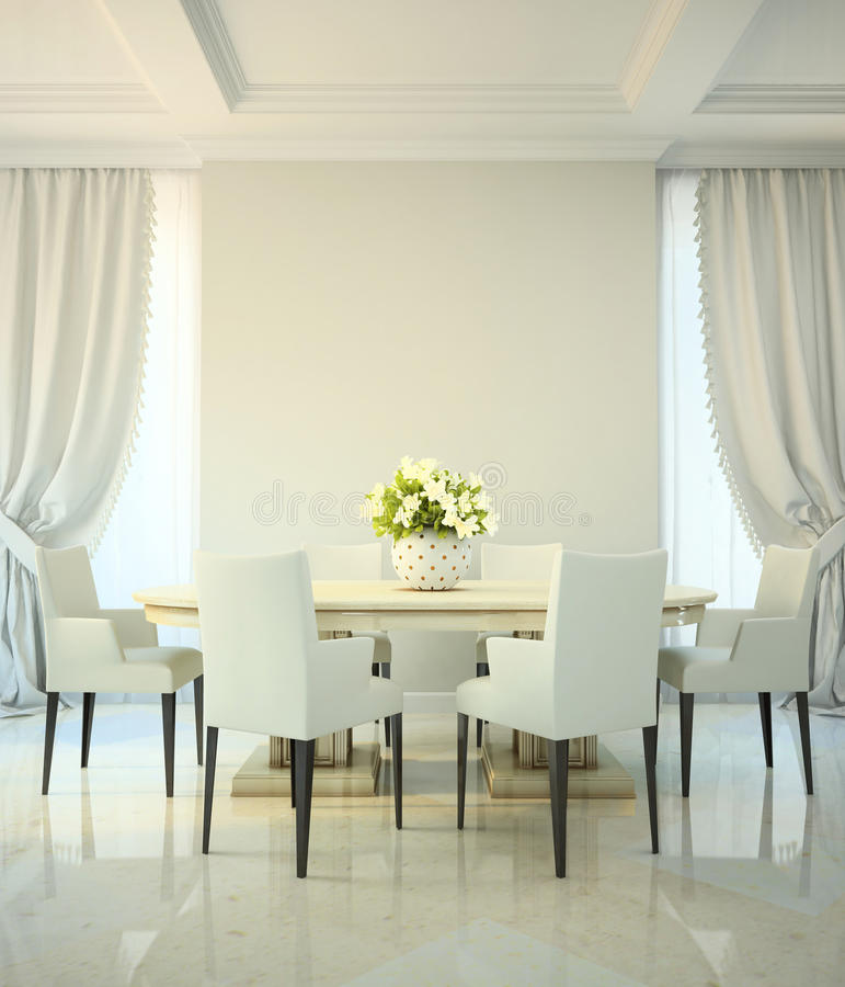 Free Dining Room In Classic Style Royalty Free Stock Image - 30681886