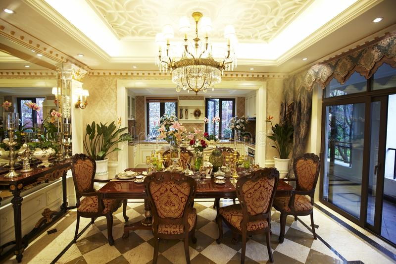 Dining room interior royalty free stock images